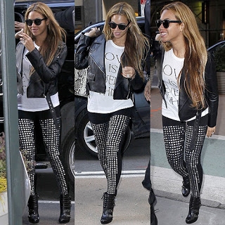 Beyonce-in-studded-leggings-in-NYC