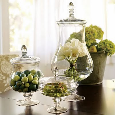 Decorating with Apothecary Jars – Blushing Black