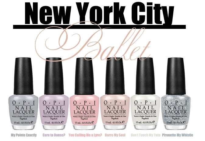 OPI\'s New York City Ballet Nail Polish Collection | Blushing Black