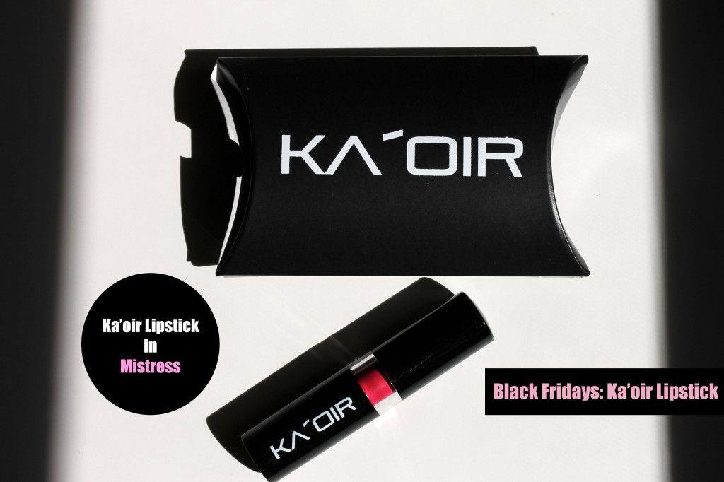 Kaoir Cosmetics Lipstick Beauty Review  Blushing Black-6757