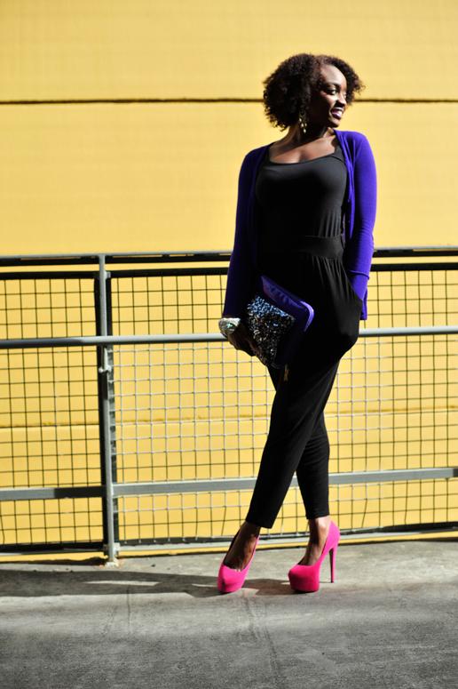 Blushing Black Purple Reign