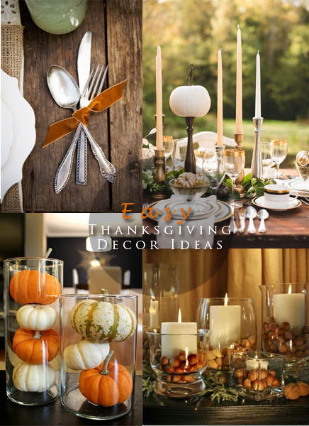 Easy thanksgiving decor ideas blushing black for Thanksgiving home ideas