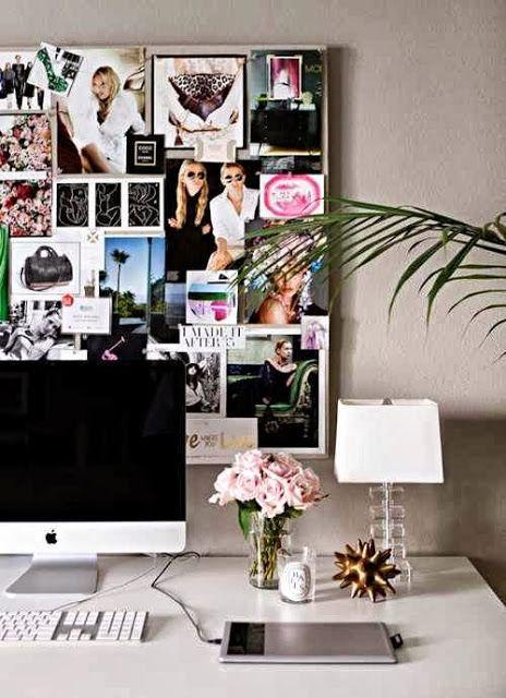 pretty office decor ideas blushing black