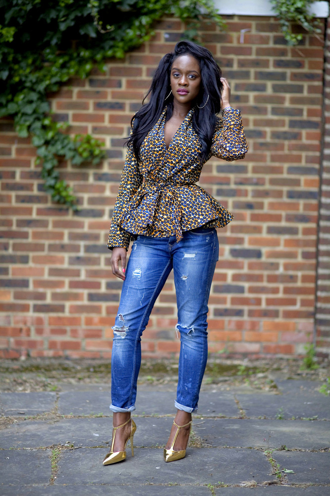 ... African print pieces including blazers, midi skirts, tee shirts and