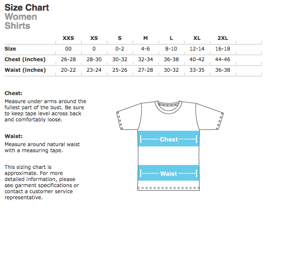 american-apparel shirt size